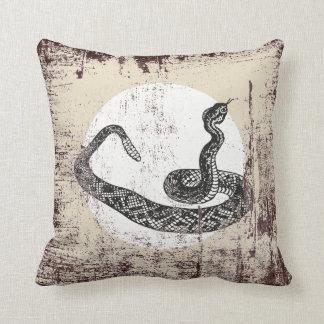 rattle snake throw pillow