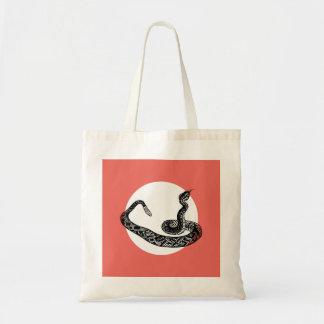 Rattle snake tote bag