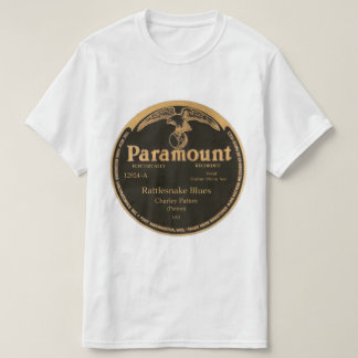 """Rattlesnake Blues"" Charley Patton on PARAMOUNT T-Shirt"