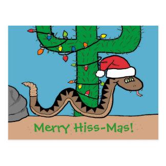 Rattlesnake Christmas Cactus Post Cards