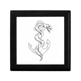 Rattlesnake Coiling on Anchor Drawing Gift Box