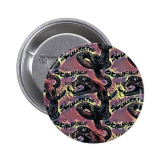 rattlesnake licking himself 2 inch round button