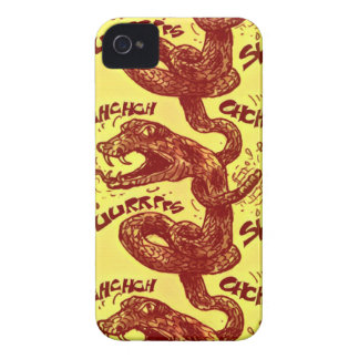 rattlesnake licking himself iPhone 4 covers