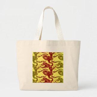 rattlesnake licking himself large tote bag