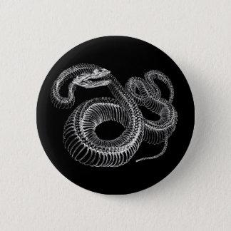 Rattlesnake Skeleton 2 Inch Round Button