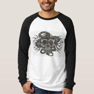 RATTLESNAKE SKULL & FLAMES T-Shirt