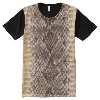 Rattlesnake Snake Skin All-Over-Print T-Shirt