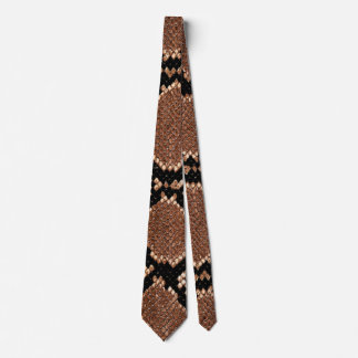 Rattlesnake Snake Skin Leather Faux Tie