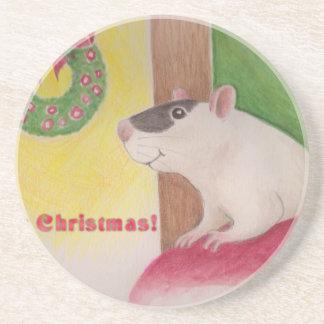 Ratty Christmas Coaster