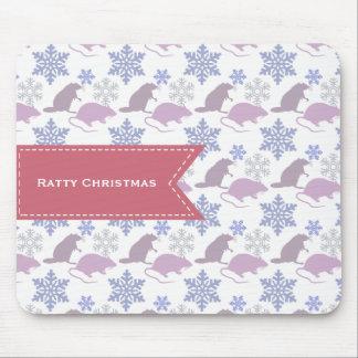 Ratty Christmas Rat Mouse Pad