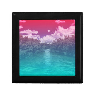 Rave Lovers Key Trippy Pink Blue Ocean Gift Box