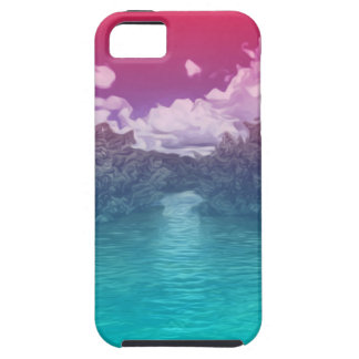 Rave Lovers Key Trippy Pink Blue Ocean iPhone 5 Cases