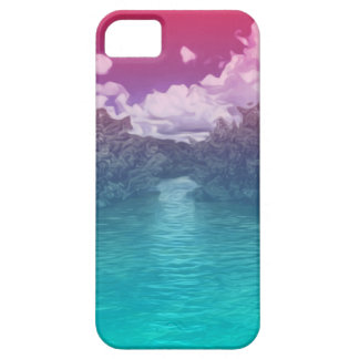 Rave Lovers Key Trippy Pink Blue Ocean iPhone 5 Cover