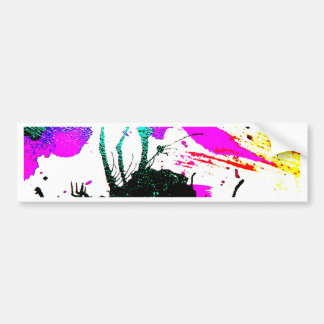 Rave neon party abstract bumper sticker