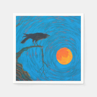 Raven and Full Moon Disposable Napkin