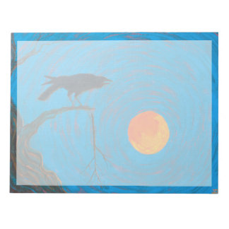 Raven and Full Moon Notepad