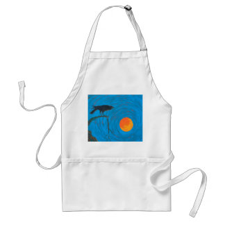 Raven and Full Moon Standard Apron