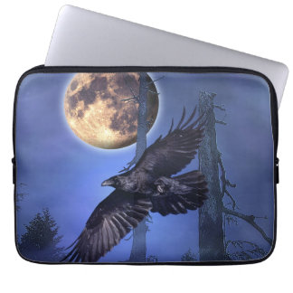 Raven and Moon Laptop Sleeve