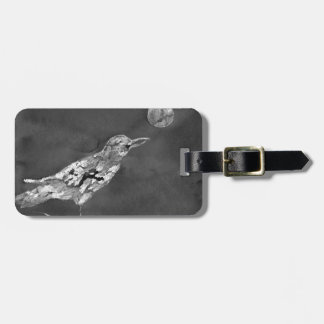 Raven and Moon Luggage Tag