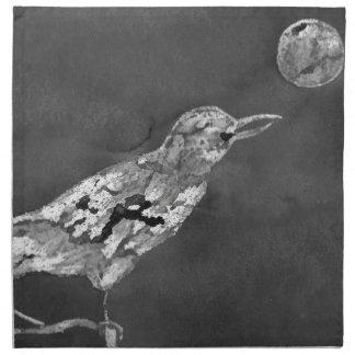 Raven and Moon Napkin