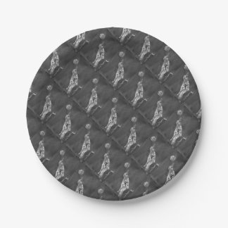 Raven and Moon Paper Plate