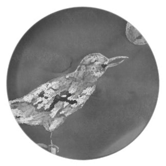 Raven and Moon Plate