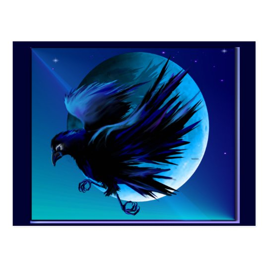 Raven and Moon_ Postcard