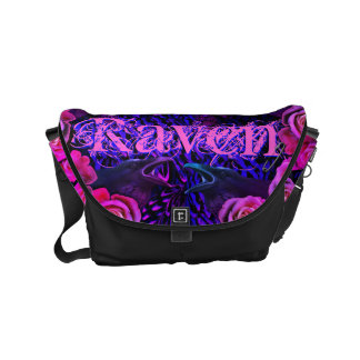Raven and Roses Evermore Gothic Messenger Bags