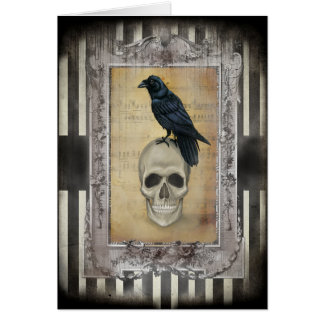 Raven and Skull Card