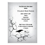 Raven and skull Gothic wedding bridal shower Personalized Invitation