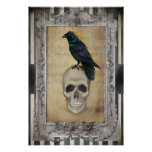 Raven and Skull halloween Posters