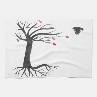 Raven and Tree Kitchen Towel
