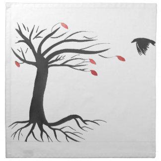 Raven and Tree Napkin