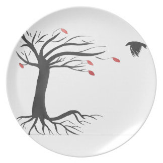 Raven and Tree Plate