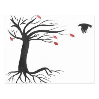 Raven and Tree Postcard