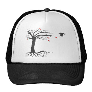 Raven and Tree Trucker Hat