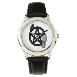Raven and Wolf Pentacle Watch