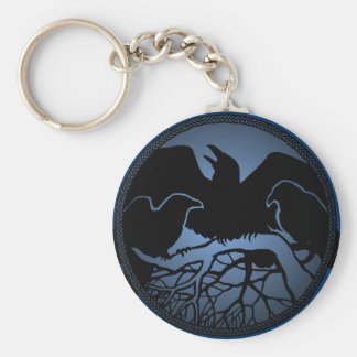 Raven Art Keychain Wildlife Crow / Raven Gifts