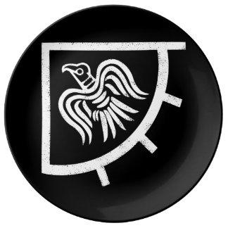 Raven Banner Viking Flag Plate