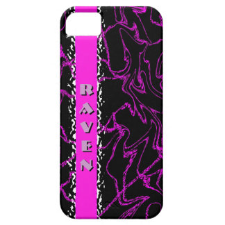 RAVEN Black & Purple Marble Bling Iphone 5 Case