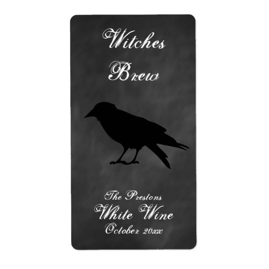 Raven Black Wine Label Shipping Label