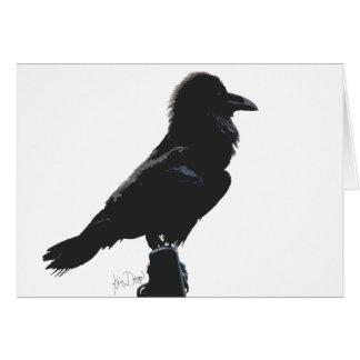 Raven blank greeting card