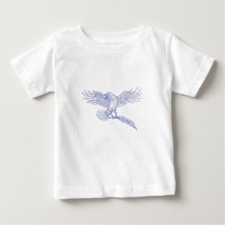 Raven Carrying Quill Drawing Baby T-Shirt
