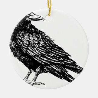 Raven Ceramic Ornament