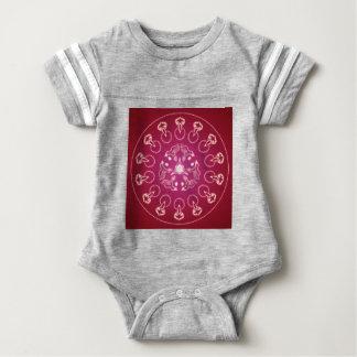 Raven Crow Bird Pentagram Wicca Pagan Spiral Self- Baby Bodysuit