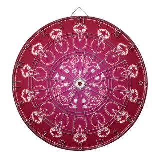 Raven Crow Bird Pentagram Wicca Pagan Spiral Self- Dartboard