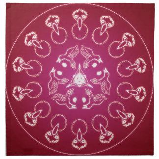 Raven Crow Bird Pentagram Wicca Pagan Spiral Self- Napkin