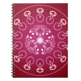 Raven Crow Bird Pentagram Wicca Pagan Spiral Self- Notebook