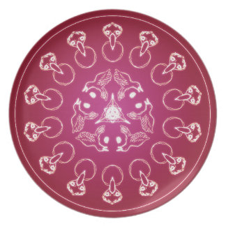 Raven Crow Bird Pentagram Wicca Pagan Spiral Self- Plate