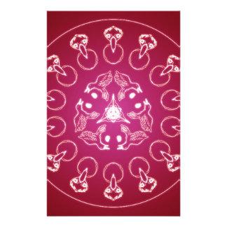 Raven Crow Bird Pentagram Wicca Pagan Spiral Self- Stationery